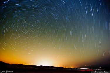 Sky Painting - Star Trails by LironSamuels