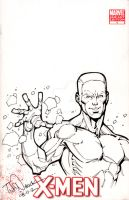 Iceman on X-Men Sketch Cover by ToddNauck