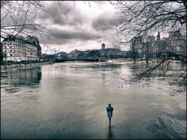 The overflowing Seine river - 3 by SUDOR