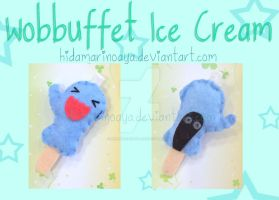 Wobbuffet Ice Cream Keychain Plush