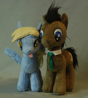 My Little Pony Doctor Whooves and Derpy Plushies by WhiteHeather