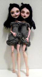 Conjoined Twin MH Draculauras by mourningwake-press