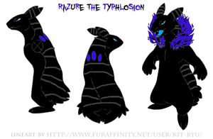 Razure The Typhlosion Ref Sheet By Shadowwolf4572- by ShadowWolf4572