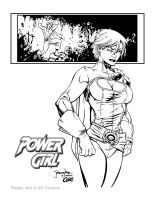 Power Girl Inked by Cadre