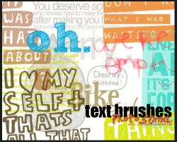 Text Brushes by photosoma