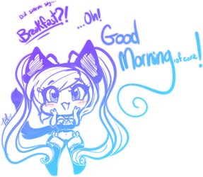 Good Morning [Neko Ally] by TehButterCookie