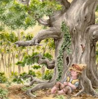 The hobbit and the tree by Toradh