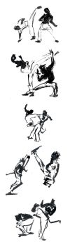 Capoeira - Sketches by Omiaranho