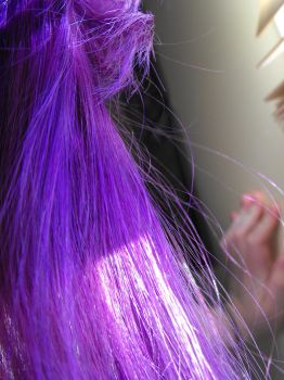 Purple hair - close up by Eisoptrophobic-stock