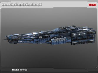 Scifi Dreadnought Nemesis by msgamedevelopment
