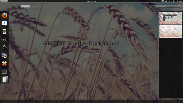 GNOME Shell - Dark Glass by half-left