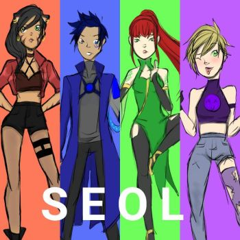 RWBY Oc: Team SEOL Vol 5 Looks by IllusiveDayDreamer