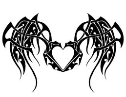 Tribal Winged Heart by Kelly-Amber