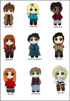 Doctor Who Chibified :D by Trisidael