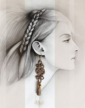 EVanilla_ADV Pic_MiManu - Long TasseL Earring by EVanillaArt