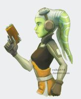 Hera Syndulla colored sketch. by RaikohIllust