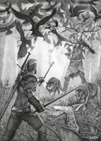 The Witcher 3 Wild Hunt Drawing by Bajan-Art