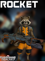 Rocket - GOTG - XPS by xZombieAlix