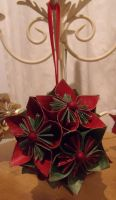 Green and Red Kusudama by Valley-of-Egeria