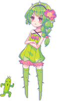 Tsundere cactus by Lanahx3