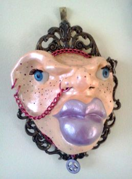 Punk Head wall mount by RISINGaristoCAT