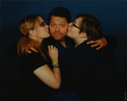 My girlfriend, Misha Collins and Me by DannyPling