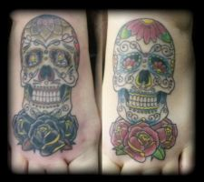 Candy skulls by state-of-art-tattoo