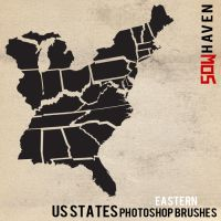 Eastern US States Photoshop Brushes by sdwhaven