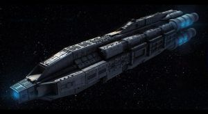 Terran Alliance Carrier Command Ship by Dreamer-Out-There