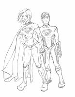 Superwoman Superboy (Pencils) by QueenAravis