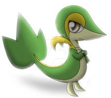 A Snivy keeping track of time. by DreamyNormy