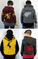 Game of Thrones inspired hoodie designs by Lisa-Lou-Who