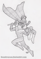 Commission - Nightwing and Red Robin by DeanGrayson