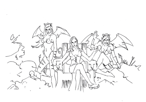 Wings (line art) by electronicdave