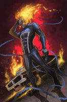 Ghost Rider color version by Javilaparra