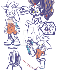 Crossover - Portal with Sonic the Hedgehog by KitsuTama