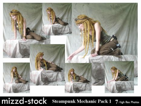 Steampunk Mechanic Pack 1 by mizzd-stock