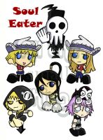 Soul Eater chibis part 2 by Kasandra-Callalily