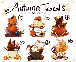 Autumn teacats [closed] by scribblin