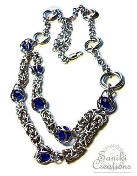 Byzantine and Mobius Chainmaille Necklace by sanikicreations