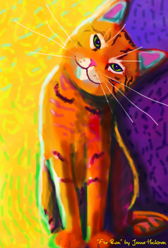 Painted Cat in Ron Burns Style by JennaHickman