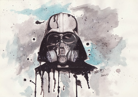 Darth Vader with a mask! by Higeki-chan