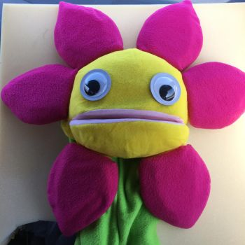She Loves Me Not Flower Puppet by tacksidermia