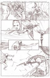 Uncanny Xmen 112 redraw page 4 pencils by benttibisson
