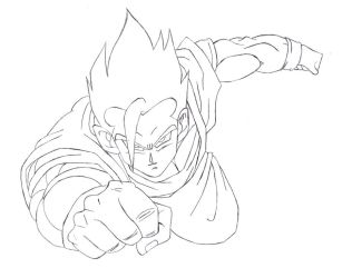 Request: Mystic Gohan -Lineart by Jorgee-alveS17
