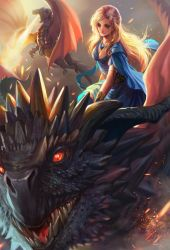 Queen of dragons by jiuge