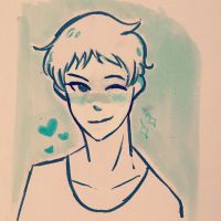 Inktober Day 10 Lance  by Ailizerbee08