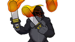 Gorilla Juggling Flaming Chainsaws by AndronicusVII