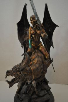 Faux Bronze Dragon Rider 2 by AntWatkins