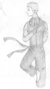 Hisoji, Warrior Monk by kingoffoxes